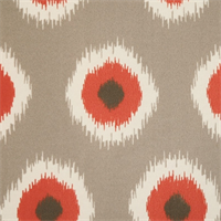 Ikat Domino Salmon Outdoor by Premier Prints - Drapery Fabric