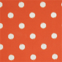 Ikat Dots Orange Outdoor by Premier Prints