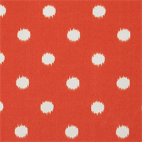 Ikat Dots Salmon Outdoor by Premier Prints - Drapery Fabric