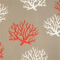 Isadella Salmon Outdoor by Premier Prints - Drapery Fabric