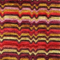 Zaney Guava Chenille Stripe Upholstery Fabric