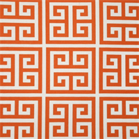 Towers Orange and White Indoor/Outdoor Fabric by Premier Prints