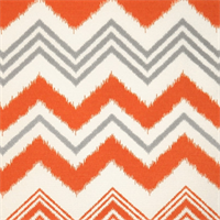 Zazzle Orange and White Indoor/Outdoor Fabric by Premier Prints