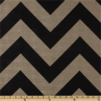 Zippy Black Denton Chevron Drapery Fabric by Premier Prints