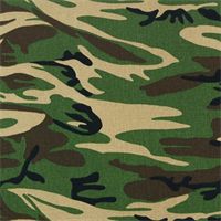 Cammo Forest Green Drapery Fabric by Premier Prints