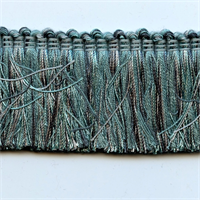 Design 2020 Teal Blue Brush Fringe