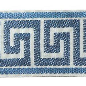 Greek Key Navy Tape Trim