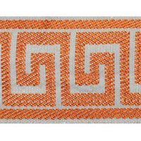 Greek Key Tangerine Tape Trim