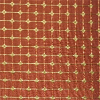 Pythia Crimson Faux Silk Check Drapery Fabric