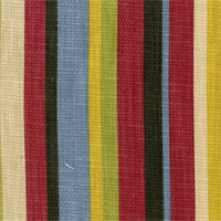 Cocktail Stripe Multi Cotton Slub Drapery Fabric