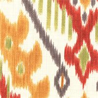 Zhami 04 Ikat Print Cotton Slub Drapery Fabric