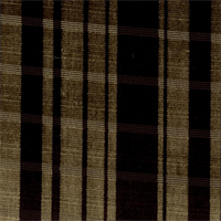 KHI Plaid Chocolate/Gray Chenille Upholstery Fabric