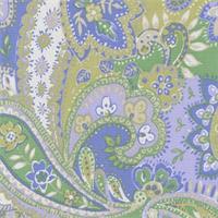 Gypsy Periwinke Printed Paisley Drapery Fabric by P Kaufmann