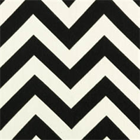 Zig Zag Ebony Indoor/Outdoor Fabric by Premier Prints