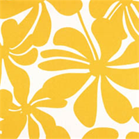 Twirly Yellow Floral Indoor/Outdoor Fabric by Premier Prints