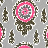 Michelle Preppy Pink Indoor/Outdoor Fabric by Premier Prints