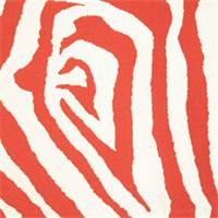 Zebra Salmon Indoor/Outdoor Print by Premier Prints