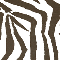 Zebra Brown Indoor/Outdoor Print by Premier Prints