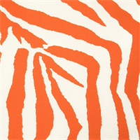 Zebra Orange Indoor/Outdoor Print by Premier Prints