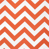 Zig Zag Orange Indoor/Outdoor Fabric by Premier Prints