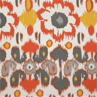 Rio Citrus Floral Ikat Indoor/Outdoor Print by Premier Prints
