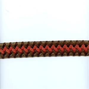 CA200 Color 378 Brown Braided Ribbon Tape Trim