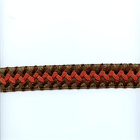 CA200 Color 378 Brown Braided Ribbon Tape Trim