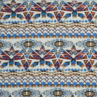 Cherokee Poppy Red Birch Cotton Drapery Fabric by Premier Prints