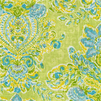 Crystal Vision Citrus Floral Ikat Fabric by Dena Designs