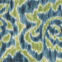 Jacklyn 601 Aqua Green Ikat Drapery Fabric by Duralee