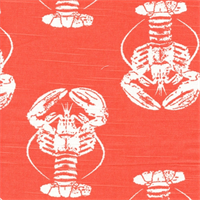 Lobster Salmon Slub Drapery Fabric by Premier Prints