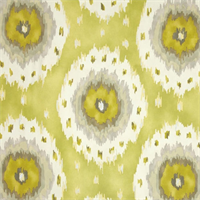 Alhambra Citrus Ikat Print Drapery Fabric by Richloom
