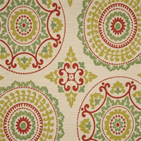 Susannah Meadow Woven Medallion Design Upholstery Fabric by Richloom