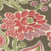 Bartie Smart Floral Drapery Fabric by P. Kaufman