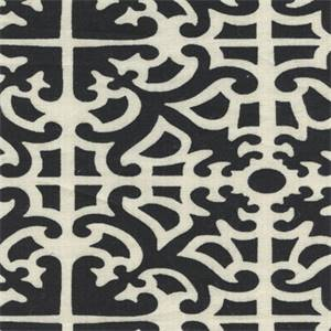 Pateire Ebony Cotton Spiderweb Design Drapery Fabric