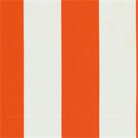 *3 1/4 YD PC--Deck Stripe Orange Indoor/Outdoor Fabric