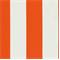 *3 1/4 YD PC--Deck Stripe Orange Indoor/Outdoor Fabric
