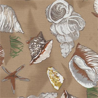Sea Shells Mocha Indoor/Outdoor Fabric
