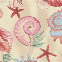Sea Shells Tan Indoor/Outdoor Fabric