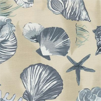Sea Shells China Indoor/Outdoor Fabric