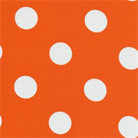 Polka Dots Orange/White Indoor/Outdoor Fabric