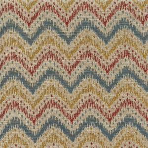 Blaze Federal Woven Ikat Chevron Stripe Upholstery Fabric