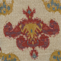 Chandelier Federal Woven Ikat Floral Upholstery Fabric