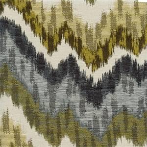 Monet Indigo Large Ikat Chevron Stripe Upholstery Fabric