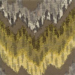 Monet Graphite Large Ikat Chevron Stripe Upholstery Fabric