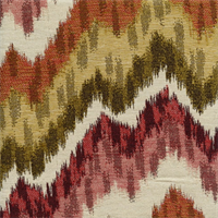Monet Jewel Large Ikat Chevron Stripe Upholstery Fabric