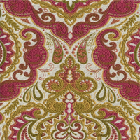 Prussa Coral Woven Floral Design Upholstery Fabric