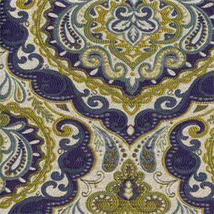 Prussa Indigo Woven Floral Design Upholstery Fabric