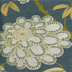 Kyoto Bamboo Woven Floral Design Upholstery Fabric