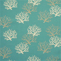 Isadella Coastal Blue/White Cotton Slub Drapery Fabric By Premier Prints